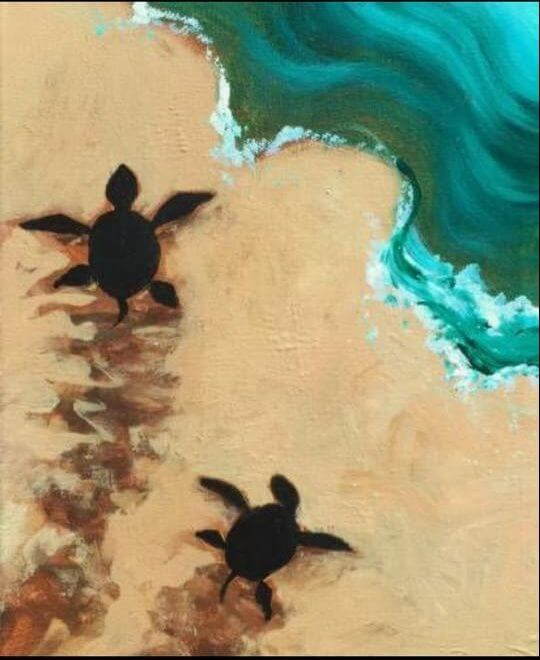 Sea Turtles Painting Inspiration Image