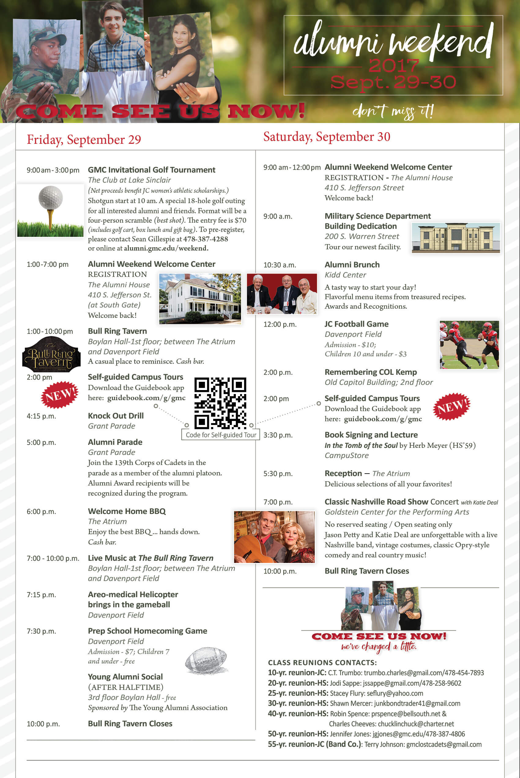 GMC Alumni Weekend Events Brochure