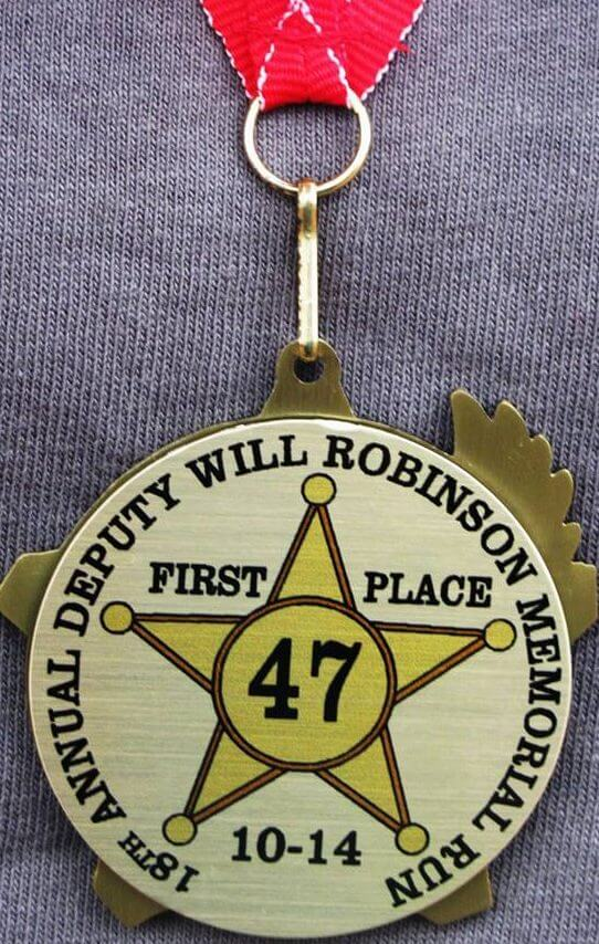 Will Robinson Memorial 5K Race Medal Image